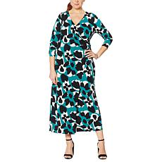 """As Is"" G by Giuliana Ruched Wrap Style Maxi Dress"