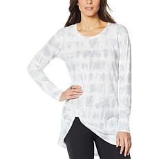 """As Is"" G by Giuliana Slub Knit Knot-Front Tunic"