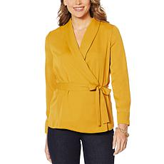 """As Is"" G by Giuliana Soft Wrap Jacket"