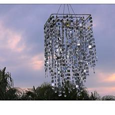 """As Is"" GB Home & Garden Rectangular Shimmering Chandelier"