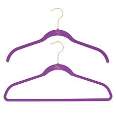 """As Is"" Huggable Hangers 20-pack of Shirt & Suit Hangers with Brass..."