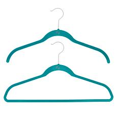 """As Is"" Huggable Hangers 40-pack of Shirt & Suit Hangers with Brass..."
