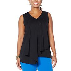 """""""As Is"""" IMAN City Chic Asymmetric Tiered Tank"""