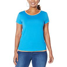 """As Is"" IMAN City Chic Double Layer Tee"