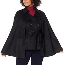 """""""As Is"""" IMAN Global Chic 2-piece Convertible Cape Vest Jacket"""