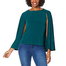 """As Is"" IMAN Global Chic Caped Shell"