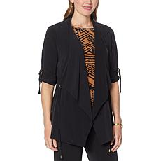 """""""As Is"""" IMAN Global Chic Drape-Front Utility Topper"""