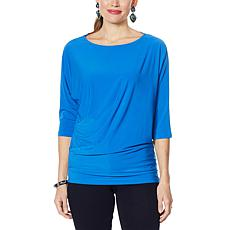 """""""As Is"""" IMAN Global Chic Illusion Chic Dolman-Sleeve Top"""