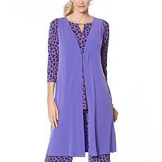 """As Is"" IMAN Global Chic Luxury Resort Duster Vest"