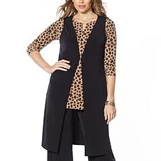 """As Is"" IMAN Global Chic Luxury Resort Duster Vest"