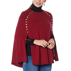 """As Is"" IMAN Global Chic Snap Detail Poncho"