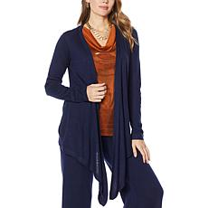 """""""As Is"""" IMAN Global Chic Touch of Cashmere Convertible Cardigan"""