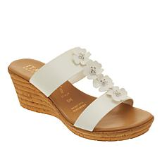 """As Is"" Italian Shoemakers Bailee H-Band Wedge Sandal"