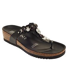 """As Is"" Italian Shoemakers Vixi Embellished Thong Sandal"
