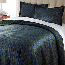 """As Is"" Jeffrey Banks Velvet Soft Quilt Set"