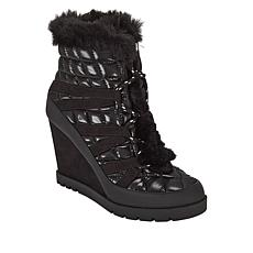 """As Is"" Jessica Simpson Brixel Quilted Lace-Up Wedge Hiker Boot"