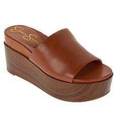 """""""As Is"""" Jessica Simpson Crissie Platform Wedge One-Band Sandal"""