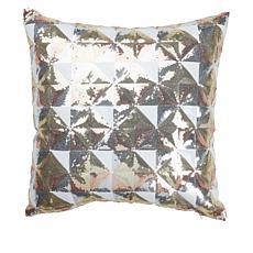 """""""As Is"""" JM by Julien Macdonald 18"""" x 18"""" Metallic Sequin Pillow"""