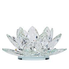 """As Is"" JM by Julien Macdonald Lotus Flower Crystal Candle Holder"