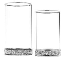 """""""As Is"""" JM by Julien Macdonald Set of Two Hurricane Candle Holders"""