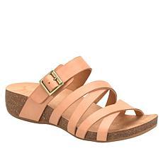 """As Is"" Korks Aster Comfort Slide Wedge Sandal"