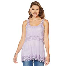 """""""As Is"""" LaBellum by Hillary Scott Lace Layering Tank"""