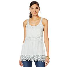 """As Is"" LaBellum by Hillary Scott Lace Layering Tank"