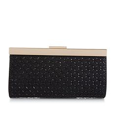 """As Is"" LeRegale Diamond-Shaped Mirrored Crystal Evening Clutch"