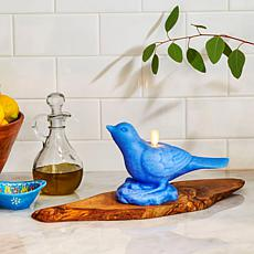 """As Is"" Luminara Moving Flame Bird Candle"
