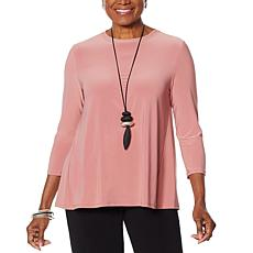 """""""As Is"""" MarlaWynne Butterfly Tee with 3/4 Sleeves"""