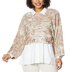 """""""As Is"""" MarlaWynne Jacquard Popover"""
