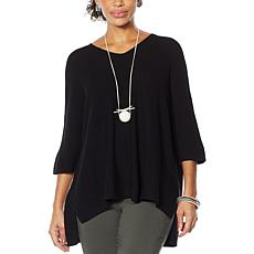 """""""As Is"""" MarlaWynne Link Stitch V-Neck Pullover Sweater"""