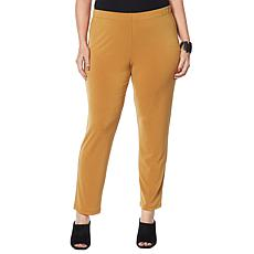 """As Is"" MarlaWynne Luxe Crepe Straight Leg Pant"