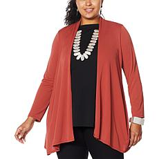 """As Is"" MarlaWynne Luxe Jersey Topper with Pockets"