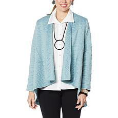 """""""As Is"""" MarlaWynne Quilted Jacquard Knit Swing Jacket"""