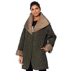 """As Is"" MarlaWynne Reversible Lightweight Quilted Coat"