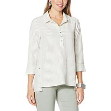 """""""As Is"""" MarlaWynne Running Stitch Henley Popover"""