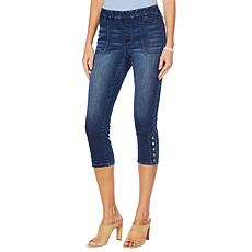 """""""As Is"""" Motto Modern Stretch Denim Pull-On Cropped Jean"""