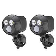 """As Is"" Mr. Beams NetBright Motion Activated 2-pack Spotlights"