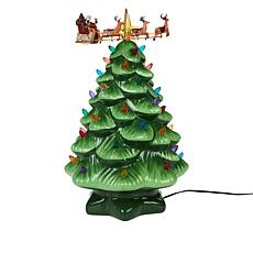 """As Is"" Mr. Christmas Animated Nostalgic Tree with Santa and Sleigh"