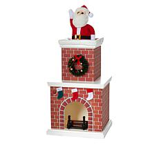 """""""As Is"""" Mr. Christmas Battery-Operated Musical Tabletop Chimney Santa"""