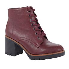 """""""As Is"""" Naturalizer Madalynn Heeled Lug-Sole Boot"""