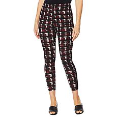 """As Is"" Nina Leonard High Tech Crepe Printed Legging"