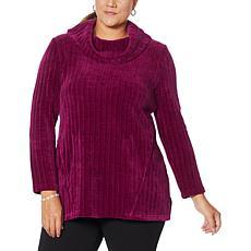 """As Is"" Nina Leonard Long-Sleeve Cowl Neck Sweater Tunic"