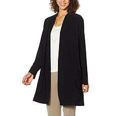 """""""As Is"""" Nina Leonard Miracle Matte Jersey Open Front Cardigan"""