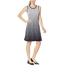 """As Is"" Nina Leonard Sleeveless A-Line Sweater Dress"