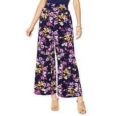 """""""As Is"""" Nina Leonard Stretch Crepe Wide Leg Pant with Pockets"""