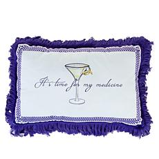 """""""As Is"""" Patricia Altschul Luxe Cocktail Hour Printed 15"""" x 10"""" Pillow"""