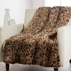 """""""As Is"""" Patricia Altschul Luxe Faux Fur Oversized 70"""" x 50"""" Throw"""