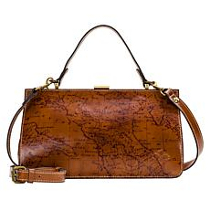 """As Is"" Patricia Nash Ardella Leather Metal Frame Satchel"